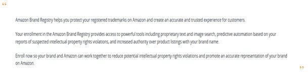 Amazon Brand Registry Quote